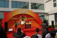 Pujiang Town Sports Center new building starts and the
